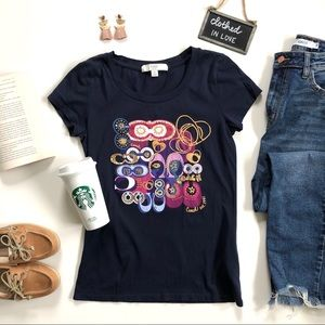 Coach Poppy Rare Limited Edition Navy Graphic Tee